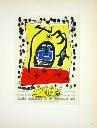 Lithograph Miró - Galerie Matarasso Nice