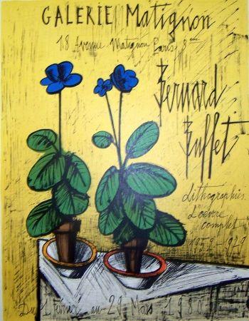 Poster Buffet - Galerie matignon 1980