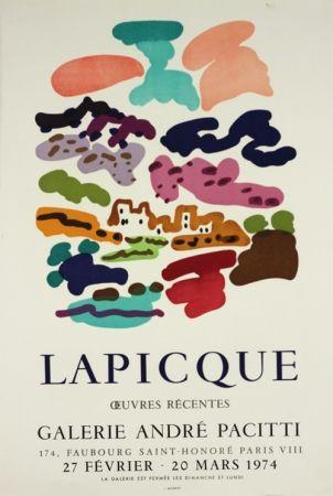 Lithograph Lapicque - Galerie Pacitti