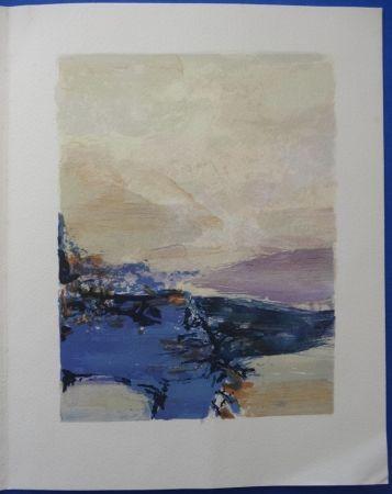 Lithograph Zao - Galerie Prouté 1990