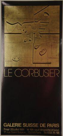 Lithograph Le Corbusier - Galerie Suisse de Paris Juillet 1981