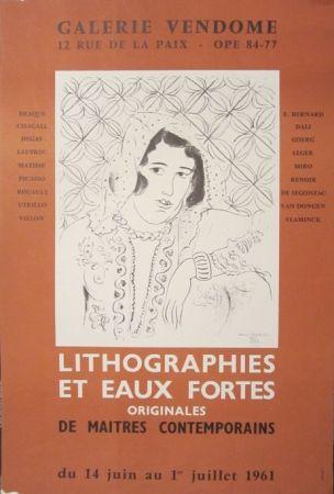 Lithograph Matisse - Galerie Vendome, Lithographies et Eaux Fortes