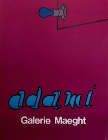 Lithograph Adami - Gallery Maeght