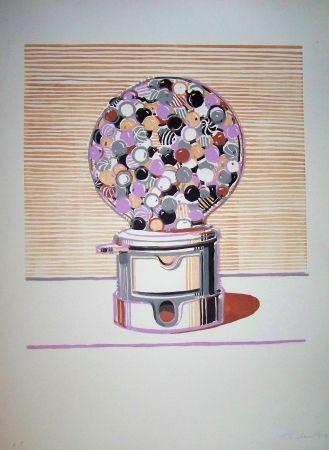 Linocut Thiebaud - Gamball violet