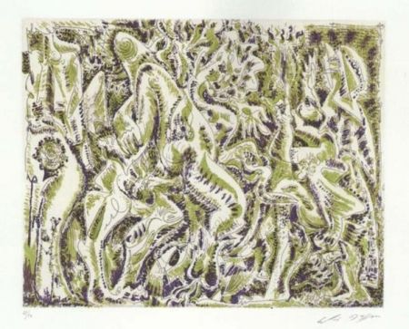 Etching And Aquatint Masson - Garden party