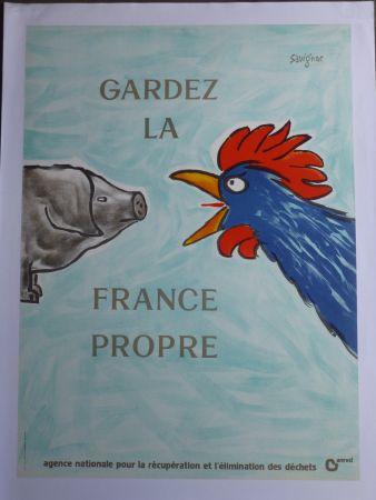 Poster Savignac - Gardez la France propre