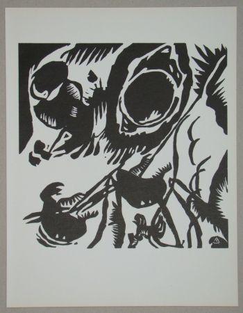 Woodcut Kandinsky - Garten der Liebe