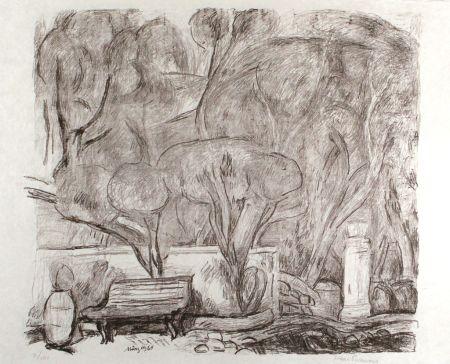 Lithograph Purrmann - Garten In Levanto