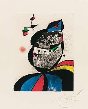 Aquatint Miró - Gaudí VII