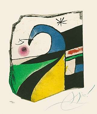 Aquatint Miró - Gaudí X