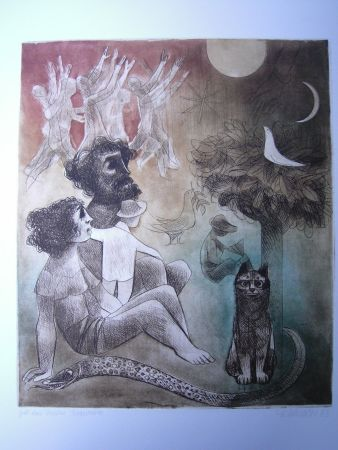 Etching And Aquatint Finsterer - Gebt uns Frieden / Give Us Peace
