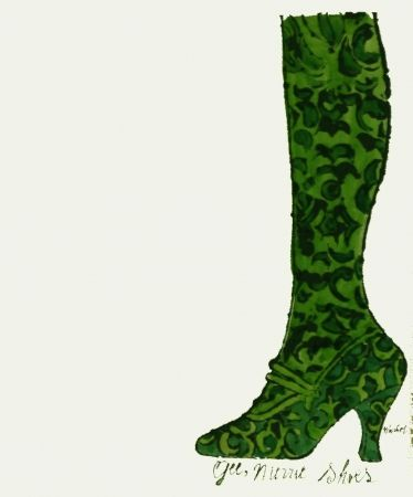 Lithograph Warhol - Gee, Merrie Shoes (Green)