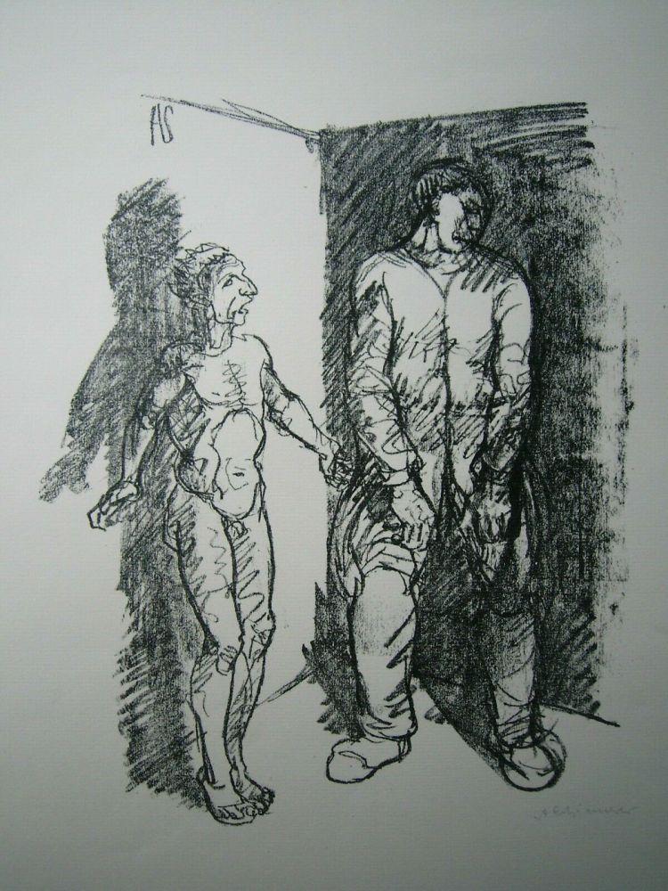 Lithograph Schinnerer - Gefangener (Prisoner)
