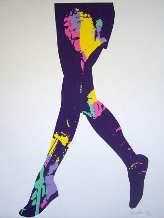 Lithograph Messac - Gene vincent violet