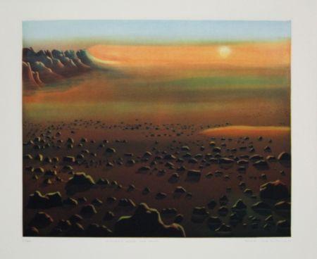 Etching And Aquatint Maibaum - Genesis:  Wüste und Sonne