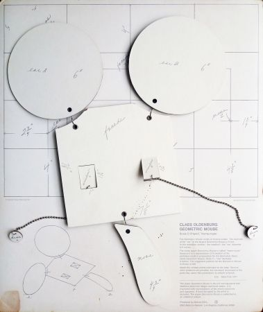 Lithograph Oldenburg - Geometric Mouse, Scale D