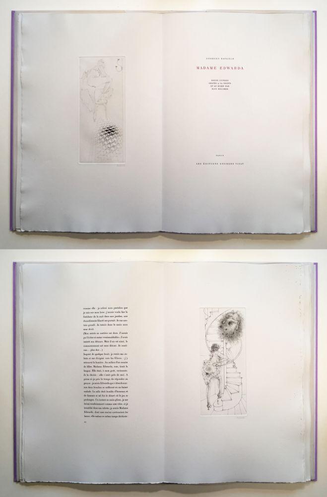 Illustrated Book Bellmer - Georges Bataille : Madame Edwarda. 12 gravures originales signées (1965).