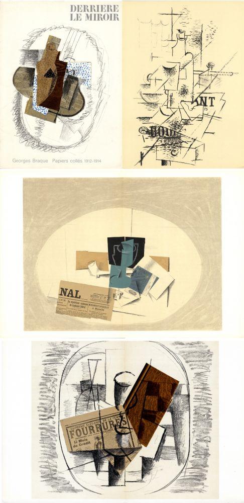 Illustrated Book Braque - GEORGES BRAQUE. Papiers collés 1912-1914. Derrière le Miroir n° 138. Mai 1963.