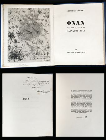 Illustrated Book Dali - Georges Hugnet : ONAN. 1 gravure originale signée (1934)