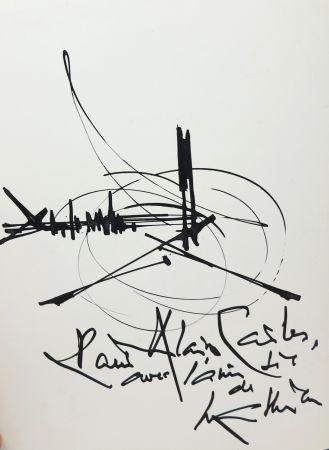No Technical Mathieu - Georges Mathieu (1921-2012). Encre et pinceau. Signé.