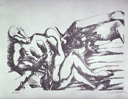 Lithograph Zadkine - Gerion (A)