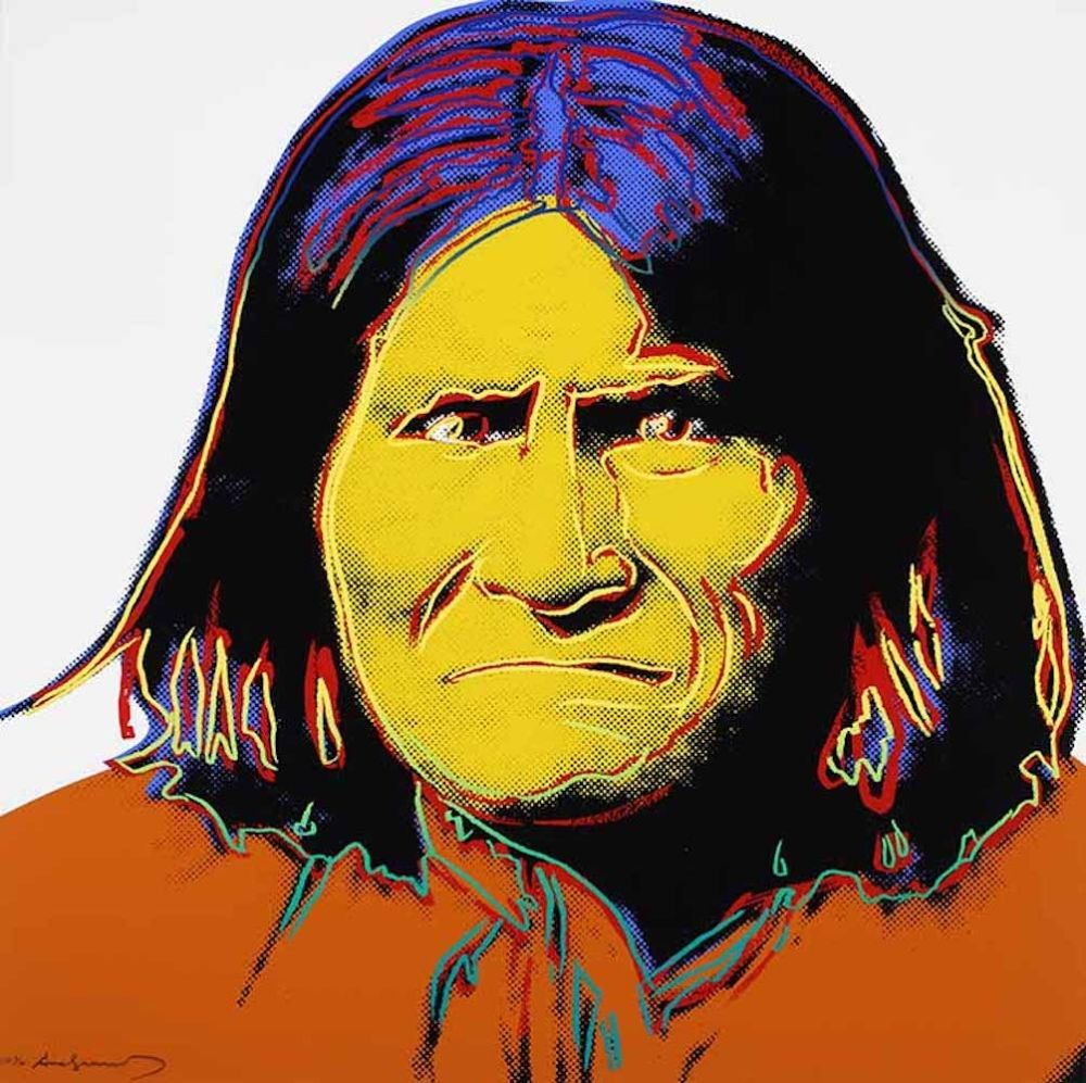 Screenprint Warhol - Geronimo, from Cowboys and Indians