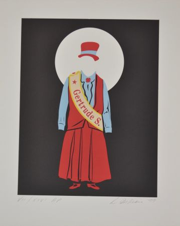 Lithograph Indiana - Gertrude Stein - Mother of us all portfolio