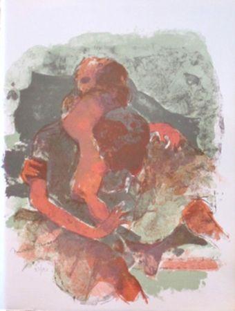 Lithograph Rodde - Gestes pour l'amour
