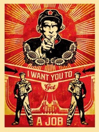 Screenprint Fairey - Get a job