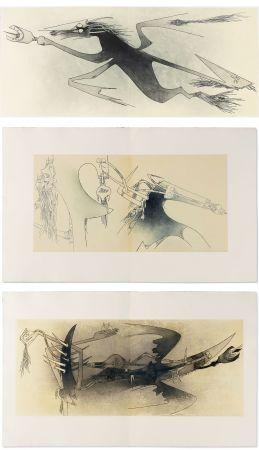 Illustrated Book Lam - Ghérasim Luca : Apostroph'Apocalypse. 14 eaux-fortes de Wifredo Lam (1967).