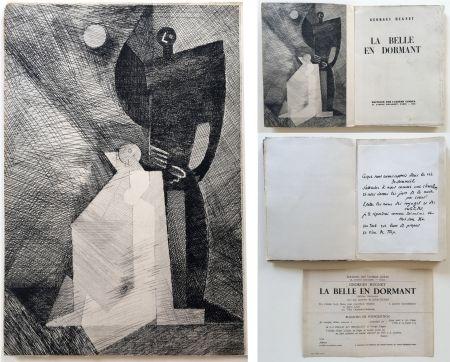 Illustrated Book Marcoussis - G.Hugnet : LA BELLE EN DORMANT. 1 des 10 avec l'eau-forte de Marcoussis (1933).