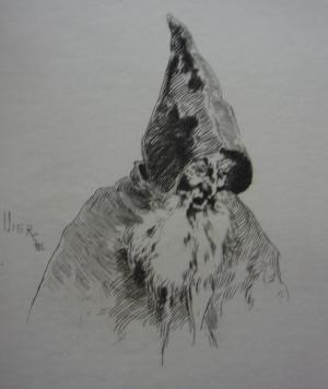 Etching Vierge - Gil Blas