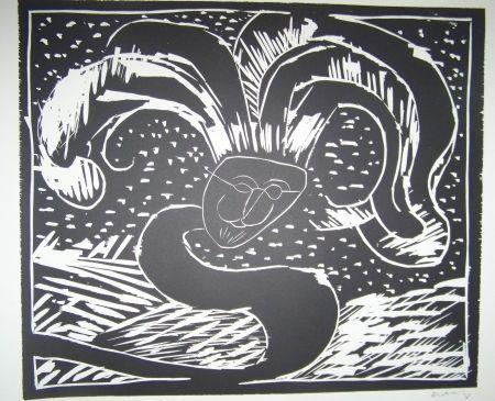 Woodcut Alechinsky - Gilles de binche