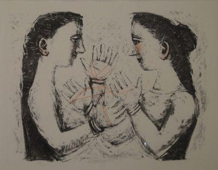 Lithograph Campigli - Gioco Con il Filo