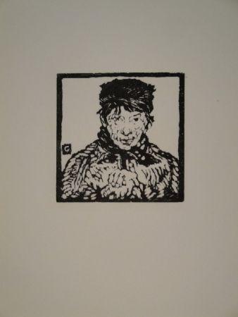 Woodcut Giacometti - Giovanin da Vöja
