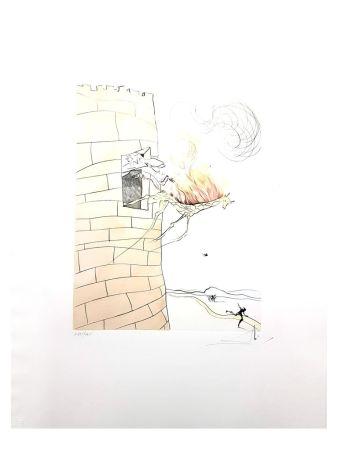 Lithograph Dali - Girafe en Flamme