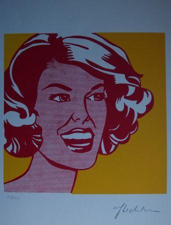 Screenprint Lichtenstein - Girl
