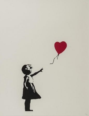 Screenprint Banksy - Girl with balloon