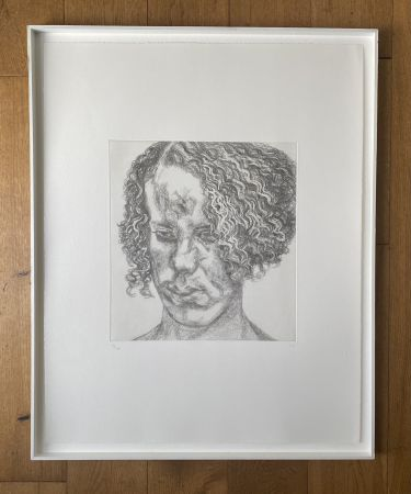 Etching Freud - Girl with Fuzzy Hair