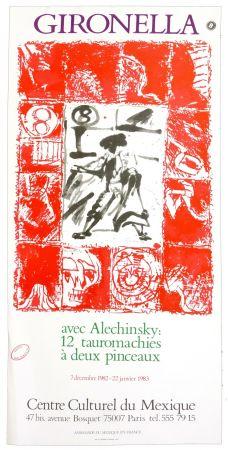Poster Alechinsky - Gironella avec Alechinsky, 1982