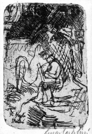 Engraving Bartolini - Gli angeli