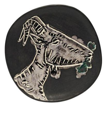 Ceramic Picasso - Goat's head in profile