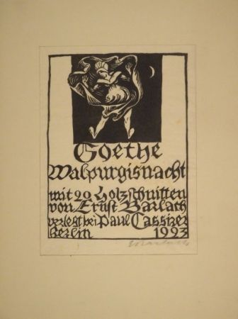 Woodcut Barlach - Goethe, J. W. Von. Walpurgisnacht.