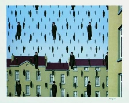 Lithograph Magritte - Golconde, 1953