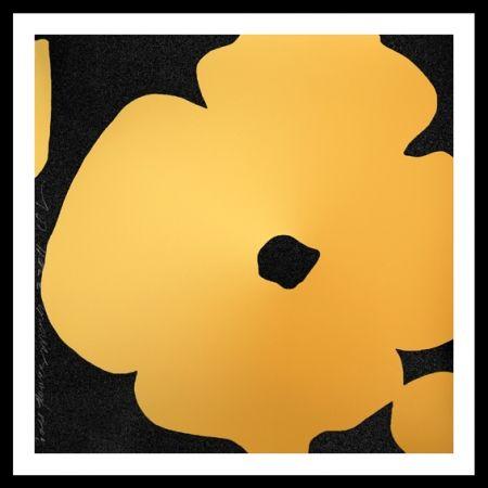 Screenprint Sultan - Gold Flower