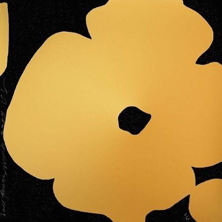 Screenprint Sultan - Gold Flowers