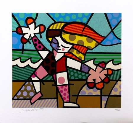 Screenprint Britto - GOLDEN BEACHES