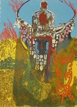 Lithograph Dali - Golden Calf