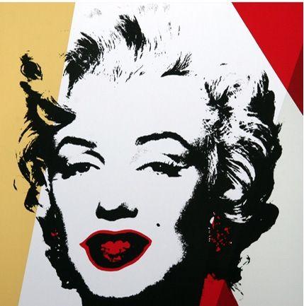 Screenprint Warhol (After) - Golden Marilyn (by Sunday B. Morning)