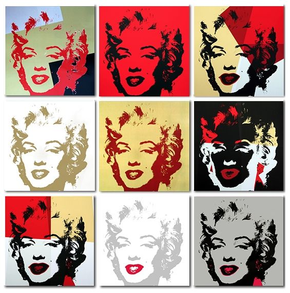 Screenprint Warhol (After) - Golden Marilyn Monroe collection a set of 10